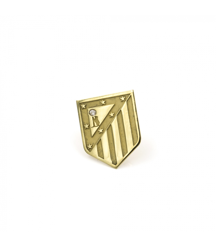 Atlético de Madrid Pin Oro de Ley 18 k Diamante
