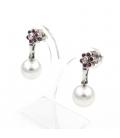 Pendientes de Perlas Australianas Rubíes y Diamantes