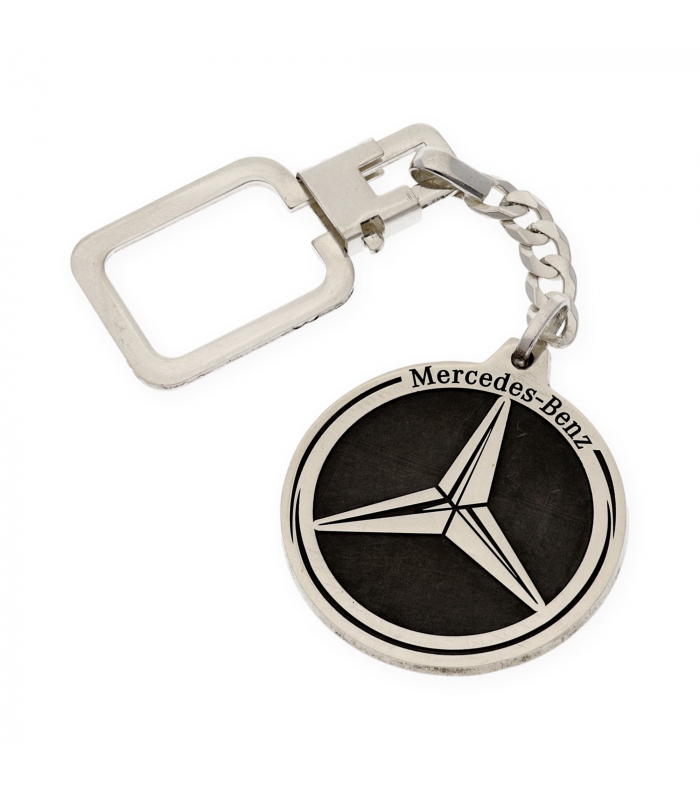 Llavero Mercedes en Plata de Ley 925