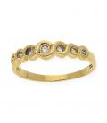 Anillo de Diamantes en Oro de Ley 18k