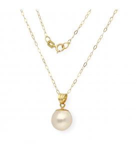 Collar con Colgante de Perla Akoya y Oro de Ley 18 kt