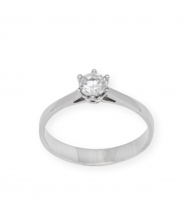 Solitario con Diamante Talla Brillante de 0,51 ct Oro Blanco