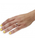 Solitario con Diamante Talla Brillante de 0,40 ct Oro Blanco 18 kt