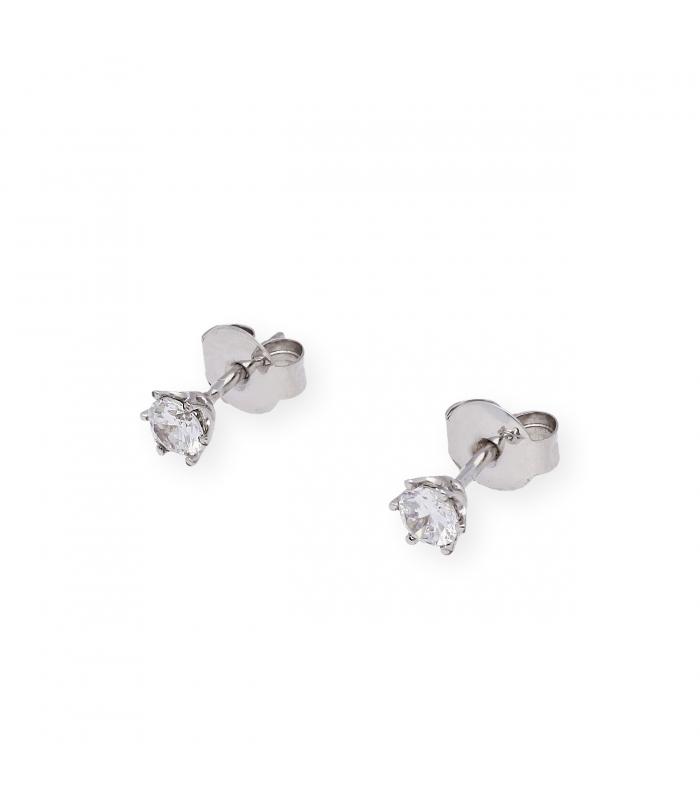 Pendientes con Diamantes Certificados de 0,80 kts y Oro Blanco 18 kt