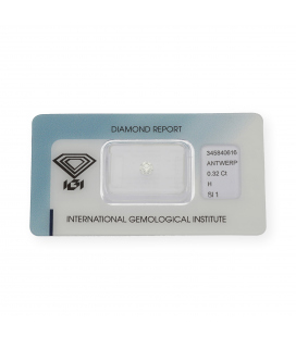 Diamante Talla Brillante de 0,32 ct H – SI 1