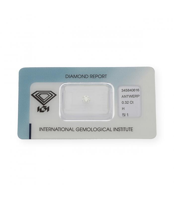 Diamante Talla Brillante de 0,32 ct H – SI 1