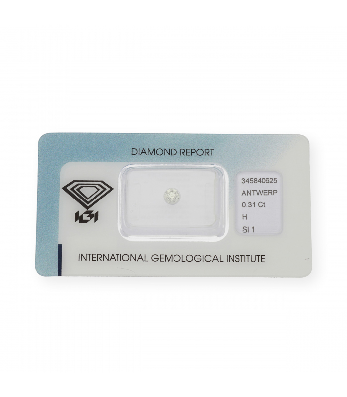 Diamante Talla Brillante de 0,31 ct H – SI 1