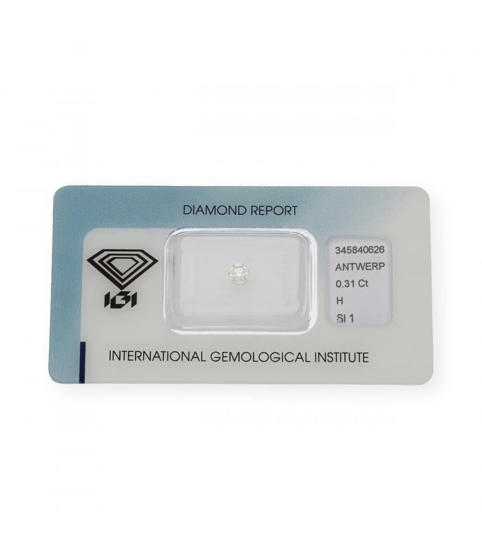 Diamante Talla Brillante de 0,31 ct H – SI 1