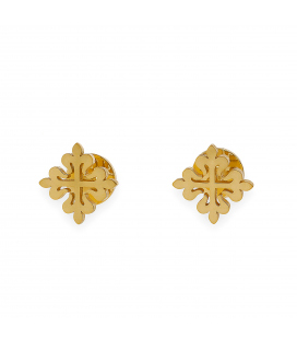 Gemelos en Plata de ley 925 con Baño de Oro 18k con diseño de Cruz