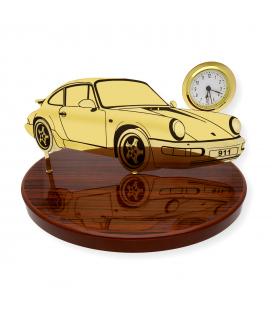 Pisapapeles con diseño Porsche 911 con reloj