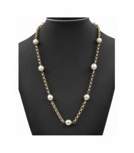 collar de Oro Amarillo y Perlas Australianas de los Mares del Sur
