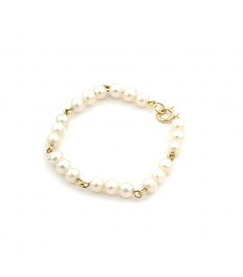 Pulsera de Oro 18 kt con Perlas Cultivadas