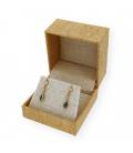 Pendientes Zafiros y Diamantes en Oro 18 kt