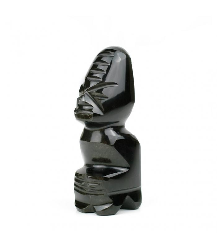 Figura de obsidiana dorada hecha a mano en México