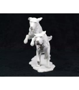 Figura porcelana biscuit alemana AK Kaiser - Perros corriendo - nº420
