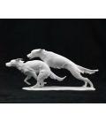 Figura porcelana biscuit alemana AK Kaiser - Perros corriendo - 420