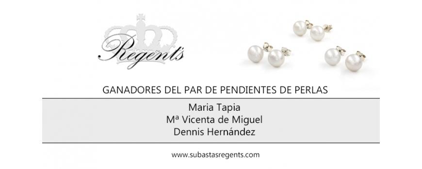 Ganadores del Sorteo de 3 Pendientes de Perlas Cultivadas