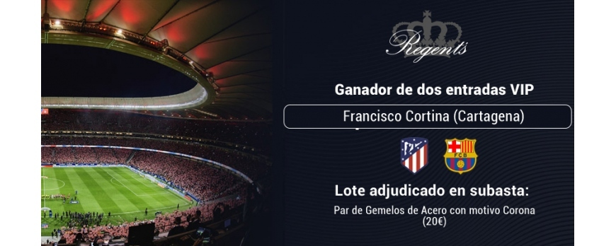 Ganador del Sorteo de 2 Entradas VIP para ver el Atlético de Madrid - FC Barcelona