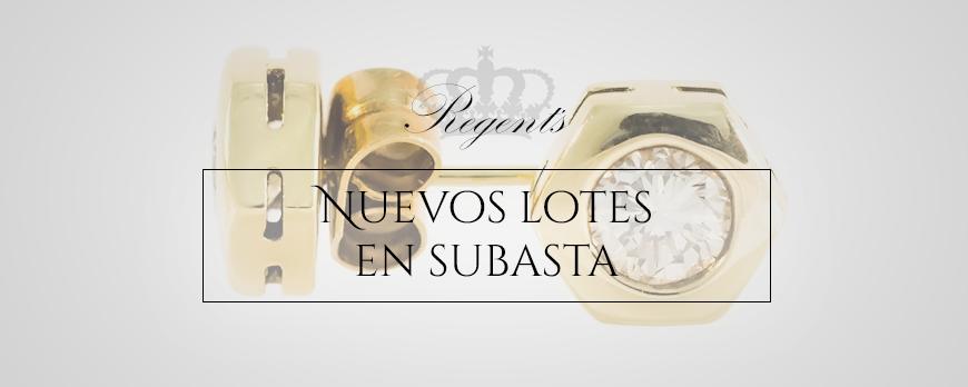 Nuevos lotes de joyas en subastasregents.com